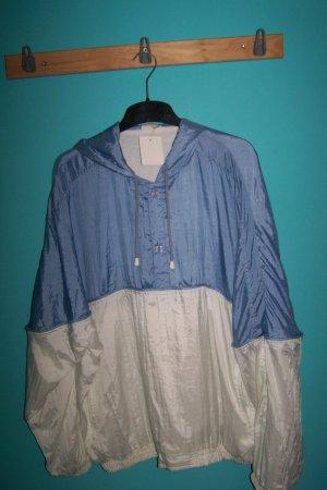 Camicia con cappuccio bianco-azzurro Poliammide
