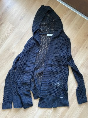 Hollister Crochet Cardigan black