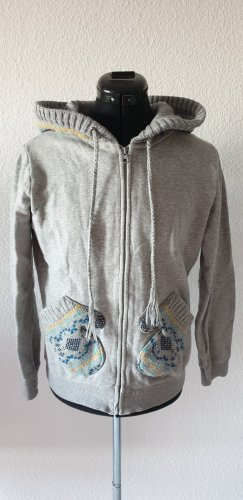 BlendShe Sweat Jacket light grey cotton