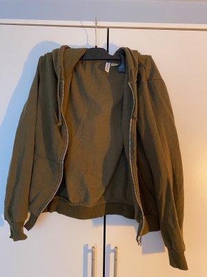H&M Chaqueta con capucha verde oliva