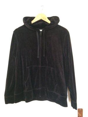 Kapuzenjacke aus Samt in schwarz XL von C&A