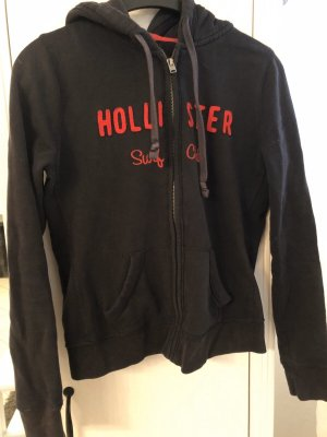 Hollister Kurtka z kapturem czerwony-ciemnoniebieski