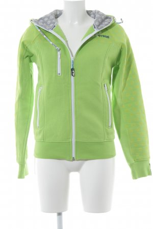 Hoody neon green-white athletic style