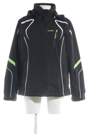 Kapuzenjacke schwarz-neongrün sportlicher Stil