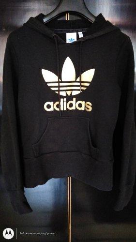 Adidas Top à capuche noir-doré