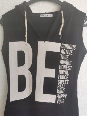 new collection Robe à capuche noir