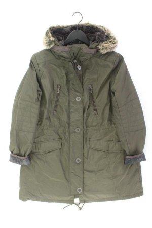 Płaszcz z kapturem oliwkowy Poliester