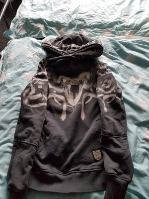 Yakuza Capuchon sweater zwart-grijs