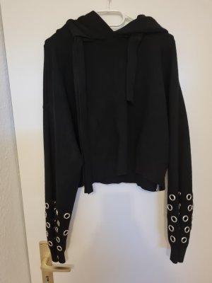 B/W Zara Collection Shirt met capuchon zwart