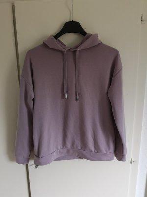 Amisu Capuchon sweater zilver-mauve