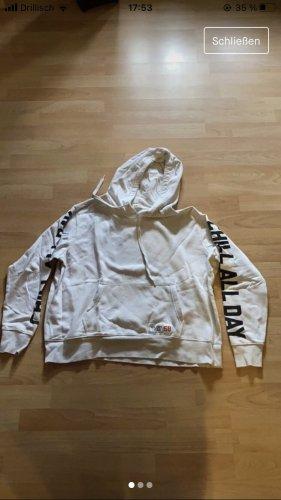 H&M Pull à capuche blanc-noir