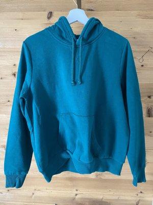 H&M Pull à capuche bleu cadet