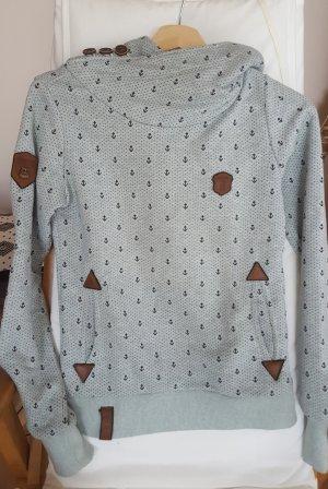 Naketano Sweter z kapturem baby blue