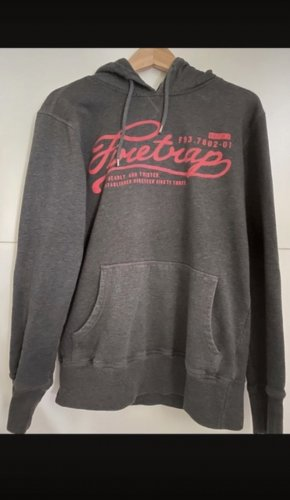 Firetrap Sweter z kapturem czarny-bordo
