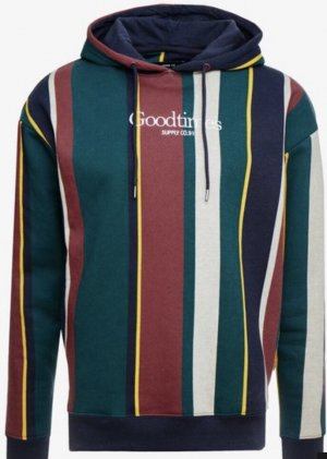 Cotton Hooded Sweater multicolored