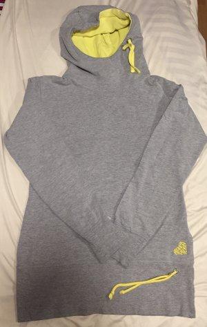 Alife & Kickin Sweter z kapturem szary-żółty