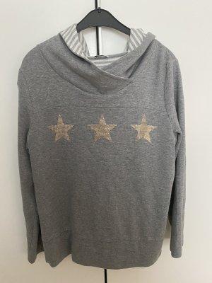 Margittes Jersey con capucha gris-color oro