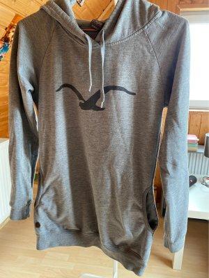 Cleptomanicx Maglione con cappuccio grigio chiaro-nero