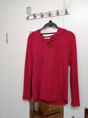 Edc Esprit Maglione con cappuccio rosso mattone Cotone