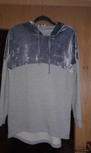 Aniston Capuchon sweater zilver-lichtgrijs