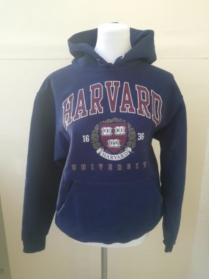 Kapuzenpullover Hoodie blau rot Harvard University Veritas Boston M