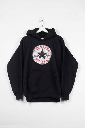 Converse Sweter z kapturem czarny Bawełna
