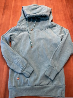 Only Sweter z kapturem turkusowy