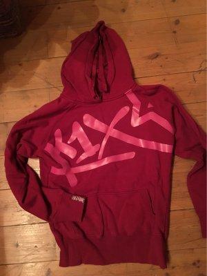 K1X Sweter z kapturem purpurowy-różowy