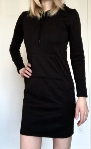 Hooded Dress black cotton
