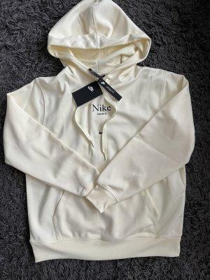 Kapuzenpullover Sweatshirt Creme Beige off white nike S