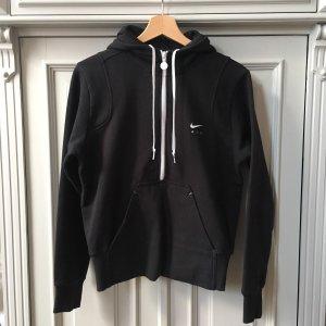 Nike Capuchon sweater zwart-wit Gemengd weefsel