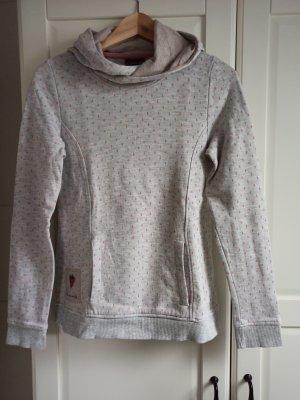 Street One Sweter z kapturem szary-malina