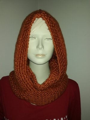 Hooded Scarf russet