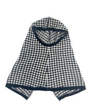 H&M Sciarpa con cappuccio nero-bianco