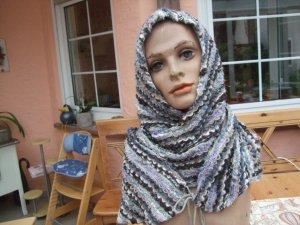 Bufanda con capucha multicolor