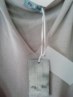 me & lou Camicia con cappuccio grigio chiaro-beige chiaro