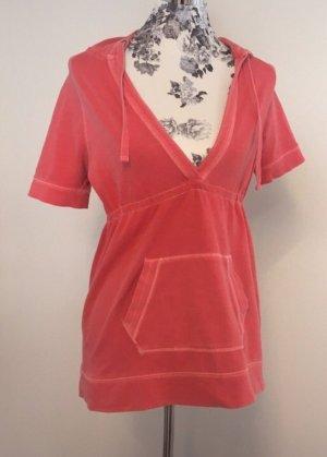 Aerie Camicia con cappuccio rosso neon-rosso lampone