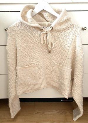 Zara Camicia con cappuccio bianco sporco-crema