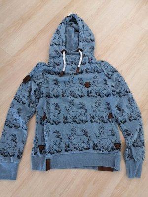Naketano Hooded Sweatshirt cornflower blue cotton