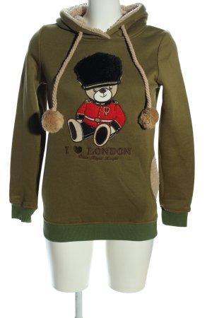 Kapuzensweatshirt Motivdruck Casual-Look