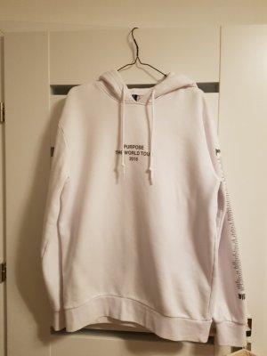 H&M Divided Sweat à capuche blanc-noir