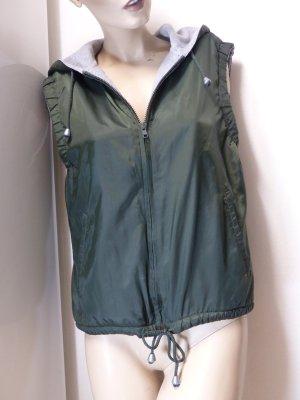 Hooded Vest dark green polyamide