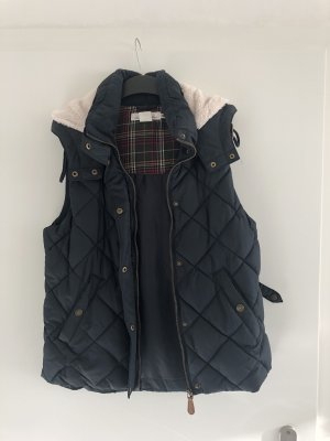 H&M L.O.G.G. Chaleco con capucha marrón claro-azul oscuro