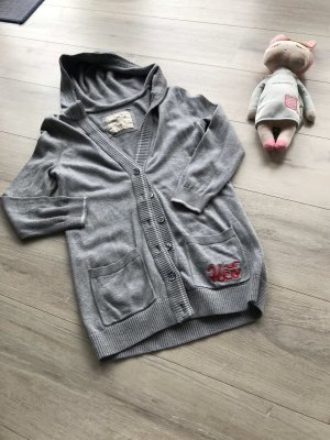 Hollister Chaleco con capucha gris