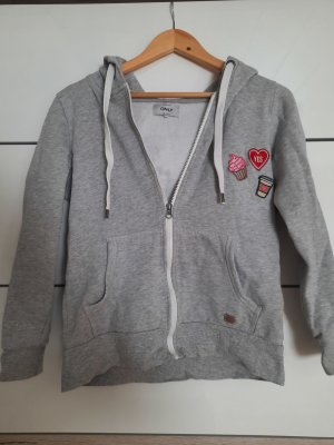 Only Hooded Vest light grey