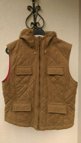 Lawrence Grey Gilet à capuche gris brun-magenta coton