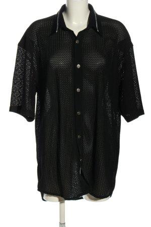 Kara Transparenz-Bluse schwarz Casual-Look