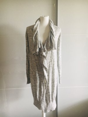 Zara Knit Lange cardigan lichtgrijs-grijs