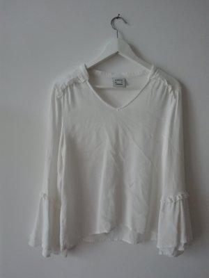 Karen by Simonsen Long Sleeve Blouse white viscose