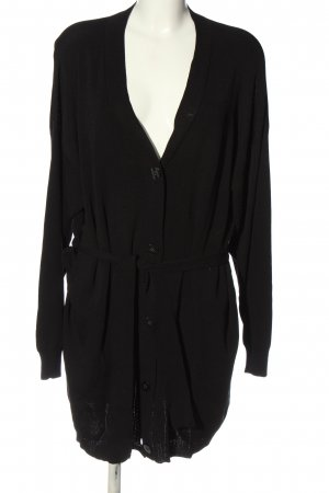 Karen by Simonsen Cardigan black cable stitch casual look